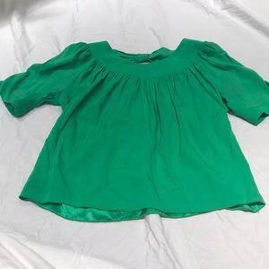 NWOT Alisha Levine 100% silk top, size XS